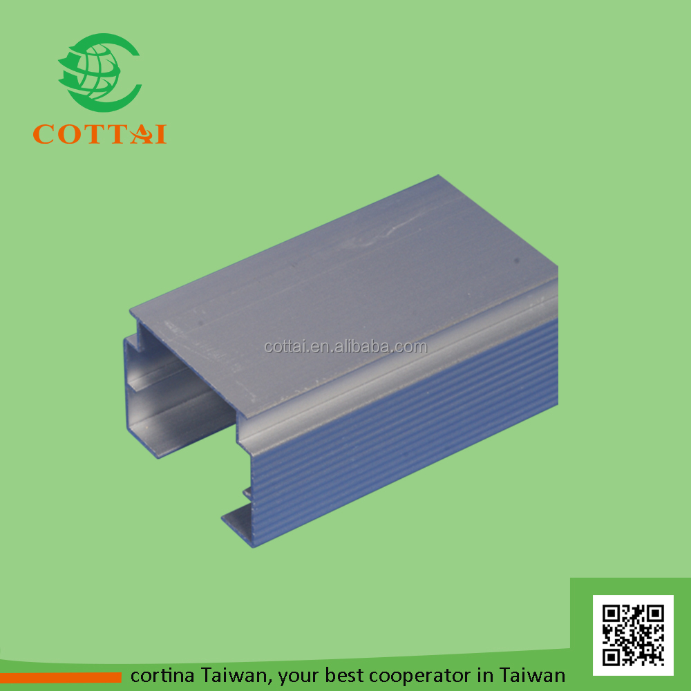COTTAI wholesale accessories aluminium rail for vertical blinds