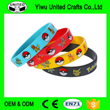 New Design hot selling China Manufacturer pokemon go bracelet with custom logo
