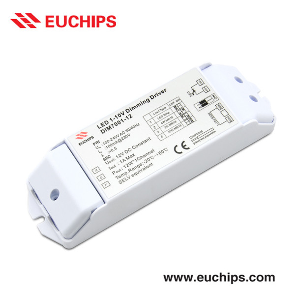 1-10V Dimming Mode Dimmable LED Driver 220V AC Input 12V DC Output 4W 7W 10W Selectable 2 Years Warranty LED Street Light