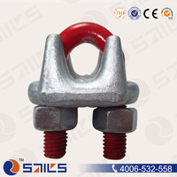 cross galvanized fastener drop forged wire rope clip us type