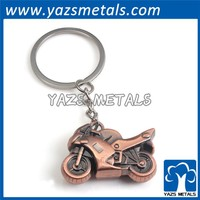 antique copper metal car shape 3D keychain