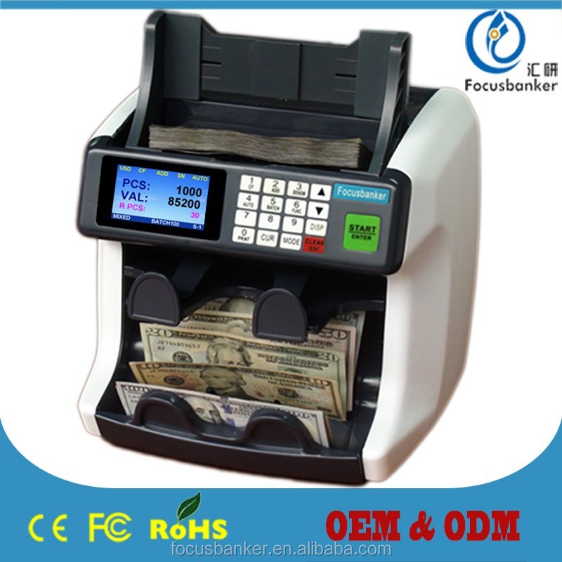 2015 Releasing 1+1 Pocket Banknote Sorting Machine with Fake Note detections, Denomination recognition