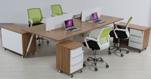 Top Quality New High end 4-person wood office bench desks