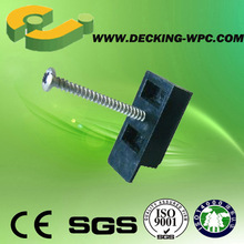 China plastic clips for wpc decking accessories