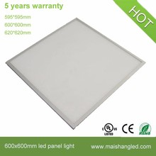 595X595mm 620X620mm 625X625mm led flat panel light with white frame keou factory