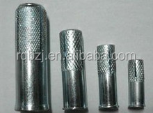 zinc plated carbon steel drop in anchor with double knurling