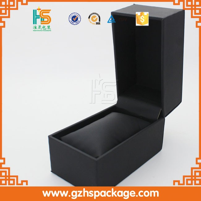 New Men Wrist Watch Display Storage Organizer Box Cell Black Leather Glass Top Box for Storing Hours Jewelry