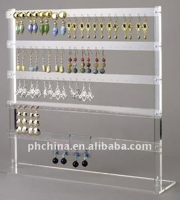 AJD_006 Elegant Acrylic Necklace & Earring Display,Folding Acrylic Earrings Stand,Foldable Plexiglass Bangle Display Rack