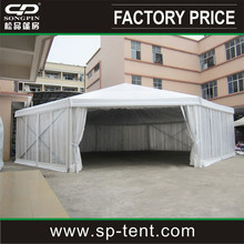 150-200 people seated octagon pinnacle tents with clear walls