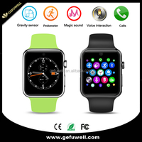 CE ROHS Approved Bluetooth 2.5D ARC HD Screen Magic Knob Multi-language SIM Card DM09 Smart Watch Android Phone