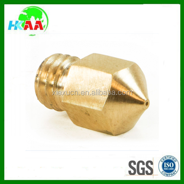 Factory wholesale custom precision brass 3d printer thread nozzle