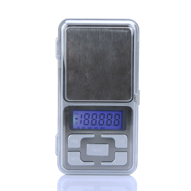 200g/0.01g High Accuracy Mini Electronic DigitalPocket Scale Jewelry Balance Portable Counting Function Blue LCD g/tl/oz/ct