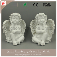 Europe Style Resin Craft Antique White Angel Resin+Stone Powder Greek Statue