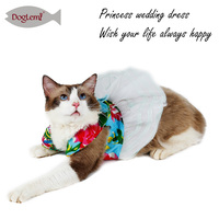 Wholesale Sweet wedding Dress Dog Clothes Custom cat dress