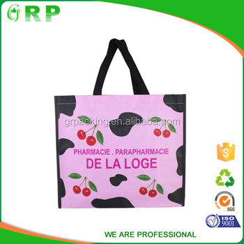 ISO/BSCI Fancy pink foldable cherry pp women shopping bag from bangladesh