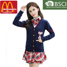 china supplier fashion school uniform for girl,newest design for school girl