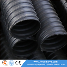 Plastic corrugated pipe with bridge steel wire