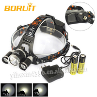 New Arrival Boruit RJ-5000 4-Modes 6000 Lumens 3x Cree XM-L2 LED Camping Moving Head Light