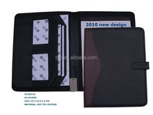 wholesale stationery cheap pu a4 business art leather portfolio for school supplies