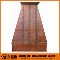 Coppersmith handmade kitchen island hood range