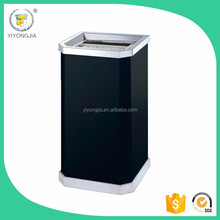 indoor dustbin/Metal Ash Bin/Galvanized Ash Bins/Square Steel Waste bins ash tray/Urban Bins/made in China/chiese factory