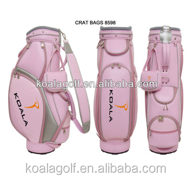 OEM golf bag,Luxurious Pink golf bag,fashion design for Lady