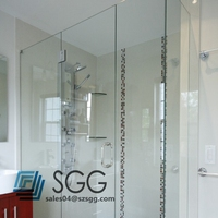 toughened tempered glass shower wall panels 8mm 10mm 12mm