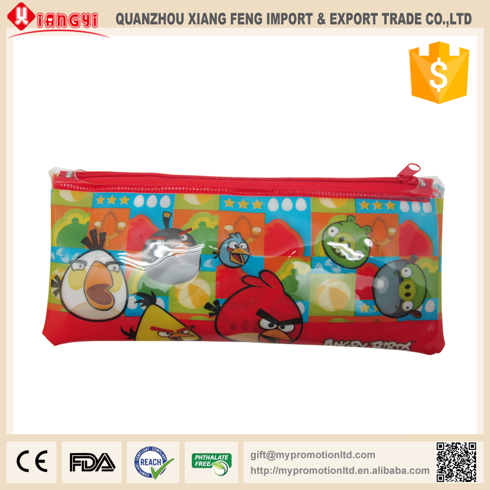 Top selling products 2015 custom logo printing promotional pvc pencil bag for kids