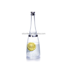 wholesale clear big belly glass sparkling water bottle