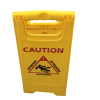 Plastic Caution Sign Board for Floor Cleaning Wet Caution