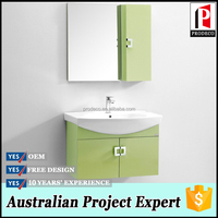 mint green pvc 2 doors mirror wall hanging cabinet bathroom vanity set