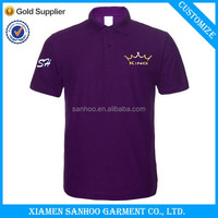 Purple Polo Shirts Wholesale Colorful OEM For Men Custom Embroidery Casual Classic