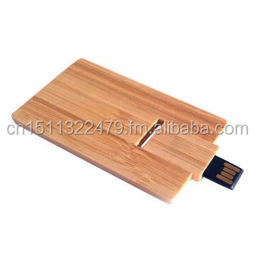 Wooden Bamboo Credit card Bank card usb flash drive SK-202 USB2.0 for Christmas New Year Gifts Gadget Promotional Item