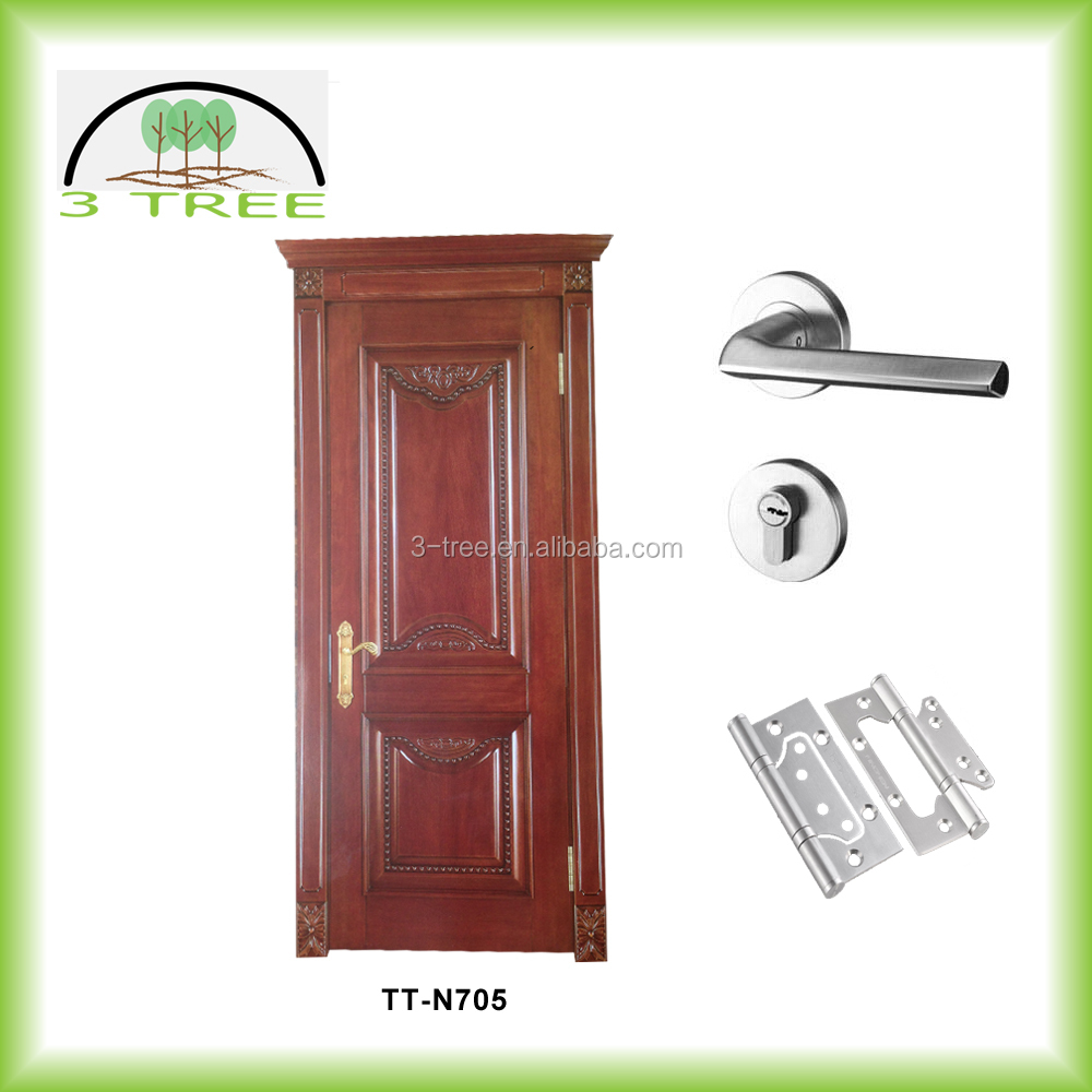 Solid wood used for wood classroom door
