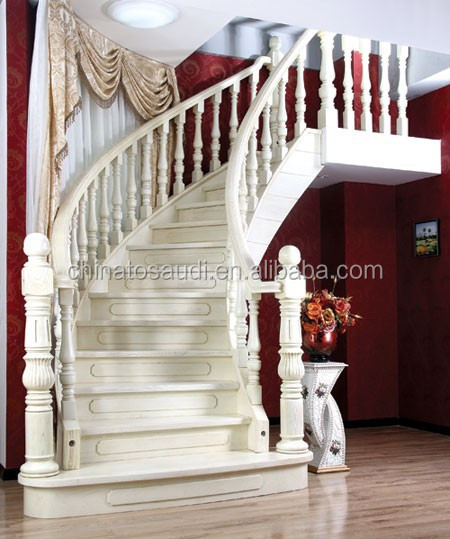 Indoor/interior solid wood stairs/wooden staircase/stair design