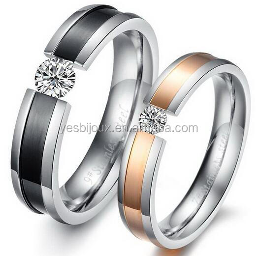 joyeria de acero inoxidable couple 316L Titanium Steel Rings