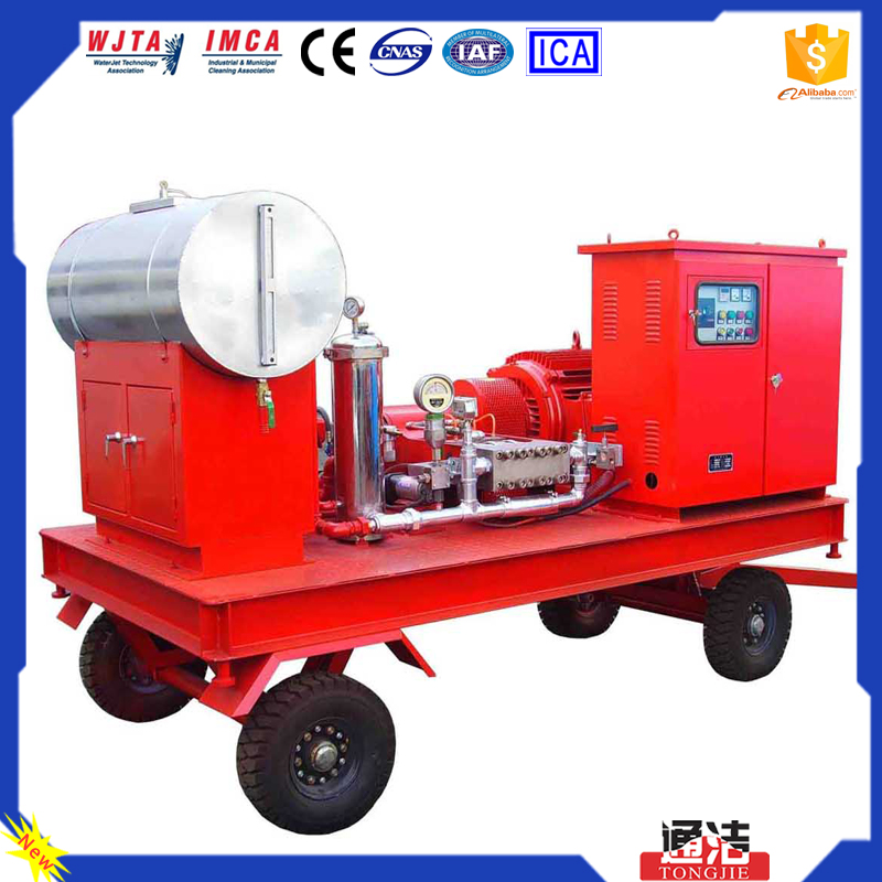 High Quality Stop the Build-up of Dirt 400KW Pipe Cleaning Water Jet Water Blaster With CE