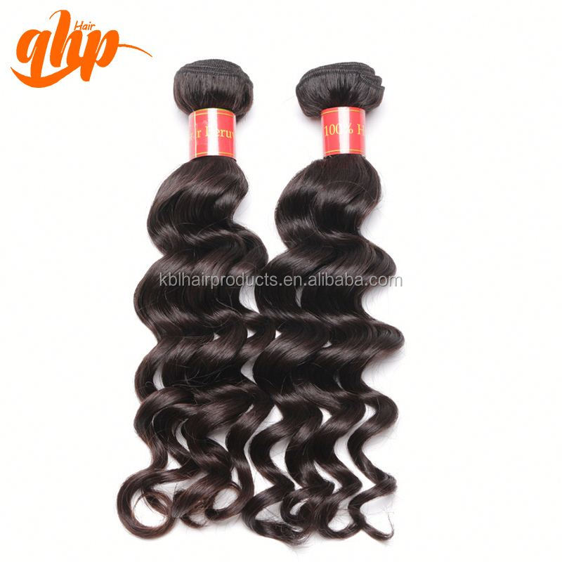 hight quality products hair extension wet and wavy peruvian hair