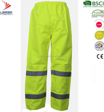High Visibility yellow Safety Reflective Tape Work Pants/trousers