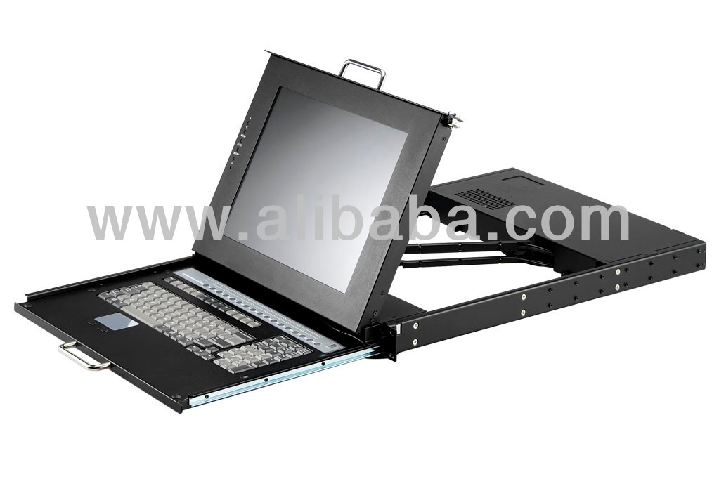 RACK MOUNT LCD KVM CONSOLE WITH DUAL RAILING