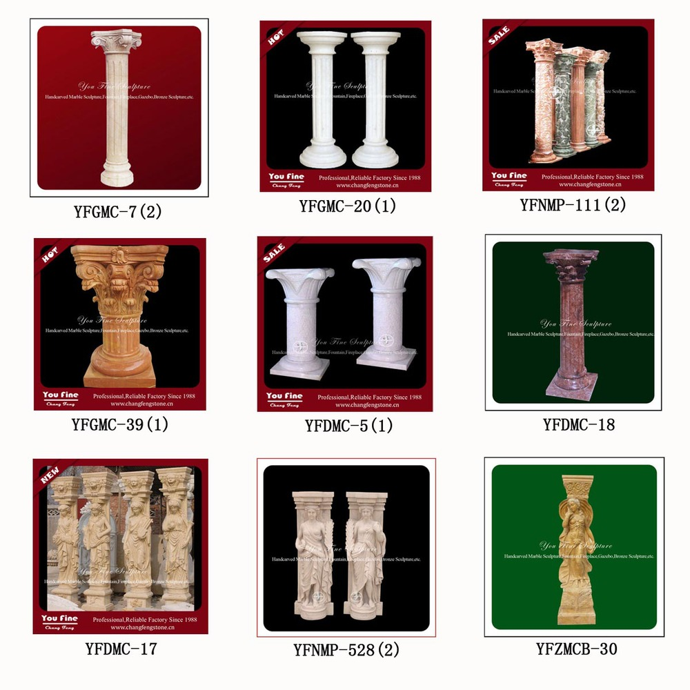 Decorative antique greek outdoor marble lion column buy for Where to buy columns for house