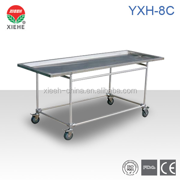 YXH-8C Stainless Steel Embalming Table