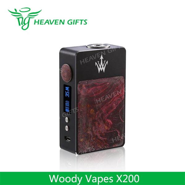 Heaven Gifts New Product! Woody Vapes X200 Box Mod with Fast Shipping