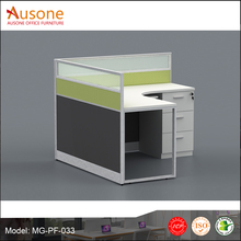 Single office desk with partition practical design with wire management China manufacturers