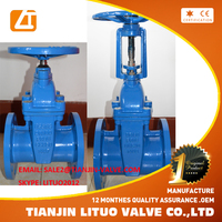 Tianjin rubber seated sluice gate valve, non-rising stem 8 inch gate valve weight