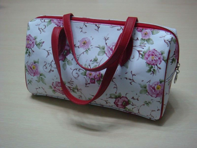 2012 hot sale designer high quality leather flower handbag