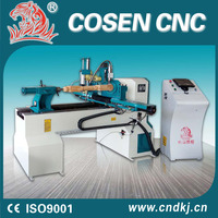 low price easy operation woodworking machine used wood lathe cnc router wood