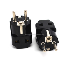 Universal multi plug socket to EU plug adaptor