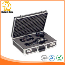 style fashion aluminum camera case with foam