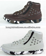 2014 fashion women skateboard shoes with studs